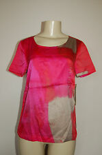 NWT Women's DKNY Jeans Petites Bright Lights Pink Gray Top Size P Nice LQQK $79