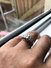 1ct Diamond Cluster Anello Oro 18kt