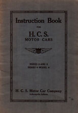 1923 H.C.S. Motor Cars Original Owners Manual Instruction Book Series 2, 3, 4