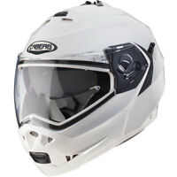 Caberg Duke II Flip Front DVS Touring Motorcycle Motorbike Helmet Metal White