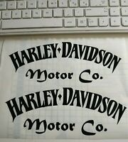Adesivo Harley Davidson Motor Co.Moto Chopper casco serbatoio vinyl spaziato 2Pz