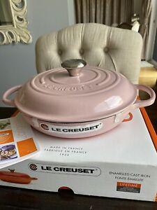 Brand New Le Creuset Signature Shallow Casserole 26cm Chiffon Pink