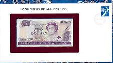 Banknotes of All Nations New Zealand 2 Dollars 1981 UNC P170a prefix EDG