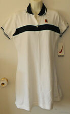 New Vintage Women Nike Dri Fit Multi-Color Tennis Dress Short Sleeve Solid Sz M