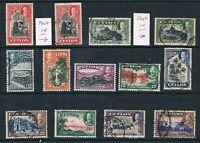 Ceylon - 1935-36 - KGV Scenes of Ceylon - SC 264-274 [SG 368-378] USED - B4