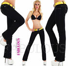 Sexy Women's Boot Cut Boot Leg Jeans Denim Pants Size 6 8 10 12 14 XS S M L XL
