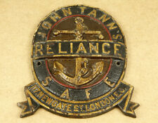 John Tann's Reliance Anchor Antique Safe Plaque 117 Newgate St. London EC