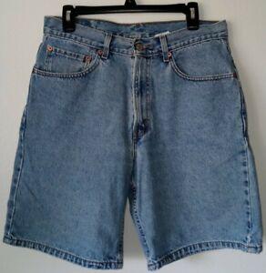 Levis 550 Denim Shorts Men's Size 33 Blue Vintage