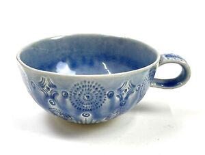 Anthropologie 'Old Havana'  Blue Mug Tea Coffee Cup Stoneware