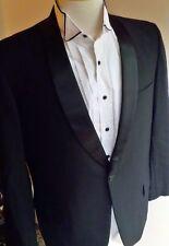 Vtg 60-70's GIMBELS Rockabilly, Rat Pack Shawl Collar Tuxedo Suit 40R Black
