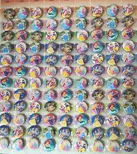 10 Disney Princess botón Insignias botín Fiesta De Cumpleaños Bolsa Relleno Gratis Envío