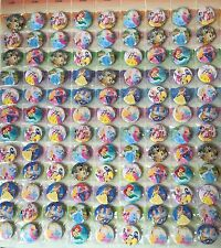 10 DISNEY PRINCESS BUTTON BADGES LOOT BIRTHDAY PARTY BAG FILLER FREE P&P