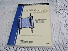 The Bible Preserved...from Satan's Attack PCC A Beka Chapel Messages DVD Johnson