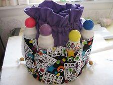 Bingo Bag  Purple  top  8 pockets