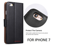 Case for iPhone 7 8 5s Plus XR XS Max Cover Real Genuine Leather Flip Wallet