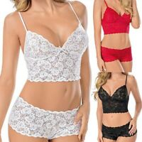 Women Lace See-Through Wrapped Chest Bra Panties Erotic Underwear Suit Charm
