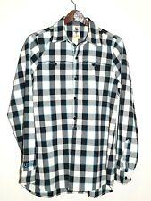 Burton's Dry Ride Flannel Shirt Button Down Size Large Multi color