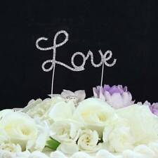 Hot Crystal Letter Sweet Love Cake Topper Wedding Engagement Anniversary Decor