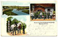 1911 CL Gruss von d. Dreikaiserreichsecke Myslowitz (Myslowice) O.-S. Grenzwache