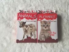 Flash Cards By Bendon 2 Pack - Ages 3+ - Animals and Alphabet