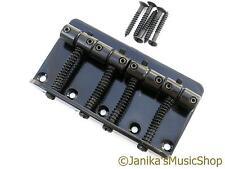 4 Cuerdas Bajo Eléctrico Negro Puente De Guitarra Jazz O Precision Tipo 19 mm espaciado