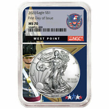 2020 $1 American Silver Eagle NGC MS70 FDI West Point Core