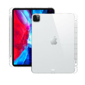"""Clear Protect Case+Pencil Holder For iPad Pro 11"""" 2021/2020 Air4 10.9"""" 8th 10.2"""""""