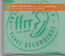 Mass Syndicate-You Dont Know cd maxi single
