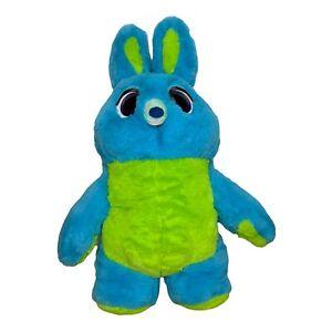 "Disney Store Pixar Toy Story 4 Talking Bunny 16"" Plush Blue Green Rabbit"