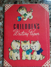 Vintage Children's writing paper set with envelopes, printed in USA