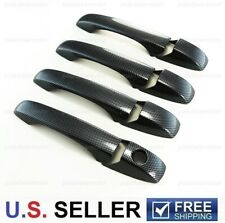 For 2005-2010 Chrysler 300 300C Black Carbon Fiber Print Look 4 Dr Handle Covers