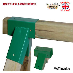 GREEN BRACKET FOR SQUARE BEAMS Swing Climbing Frame Playhouse Wooden Beam91x91mm