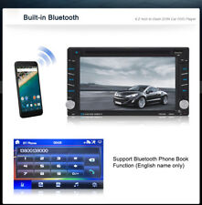 6.2 inch Double 2 Din Stereo GPS Navigation Car Media HD DVD Player BT FM Player