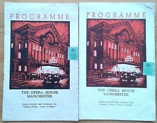 Individual/Single Manchester Opera House programmes 1950s, theatre programme