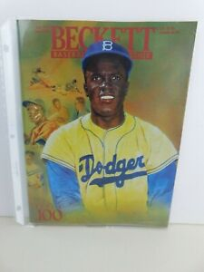 Vintage 1993 July Beckett Baseball Card Monthly Issue #100 Jackie Robinson Cover