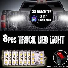 8x Waterproof Pickup Truck Cargo Area Bed Light 48 LED Light Pod Liner Kit White