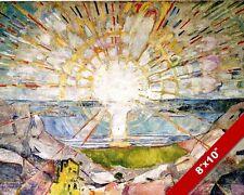 THE SUN HORIZON SET RISE EDVARD MUNCH PAINTING ART REAL CANVAS PRINT