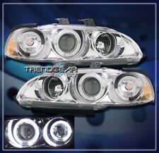 1992-1995 HONDA CIVIC 2/3DR DUAL HALO PROJECTOR HEADLIGHTS LAMP CHROME 1993 1994