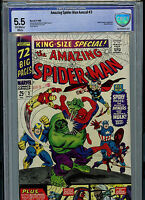 Amazing Spider-man Annual #3 CBCS 5.5 FN- 1966 Marvel Comics