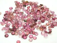 50 Pieces Natural Pink Tourmaline Wholesale Lot 4.5 mm Calibrated Faceted Round