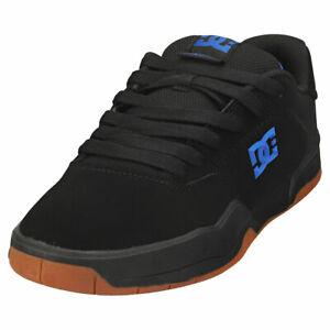 DC Shoes Central Homme Black Blue Cuir Baskets Patin