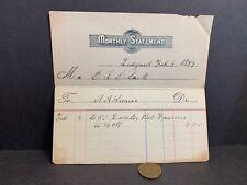 1897 Receipt, LOBSTER POT FRAMES, Ledyard CT, E.L. Clark, A.A. Brown