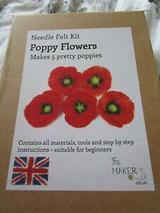 Makerss poppy needle felting kit
