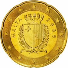 [#468658] Malta, 20 Euro Cent, 2008, MS(65-70), Brass, KM:129