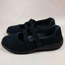NICE Women's Propet 2 Straps Navy Blue Leather Comfort Walking Shoes-7 W