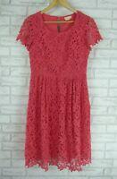 COLLETTE BY COLLETTE DINNIGAN Dress Sz S, 10 Peach lace cotton event