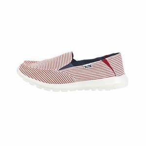 Hey Dude Shoes Women's Ava Stripes Red Slip On / Mule