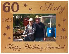 60th BIRTHDAY GIFT PERSONALISED PHOTO FRAME MUM DAD GRANDA UNCLE NANNY FRIEND