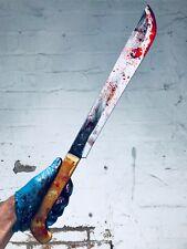 Machete sangriento película Propulsor PU realista vs Jason Halloween seguro arma de terror
