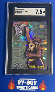 1999 TOPPS P6 SHAQUILLE O'NEAL PATRIARCHS SGC 7.5